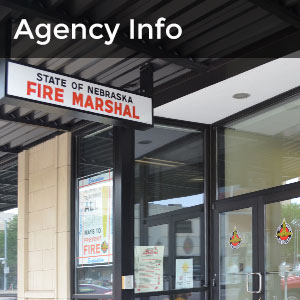 agency info picture of front of State Fire Marshal building with sign