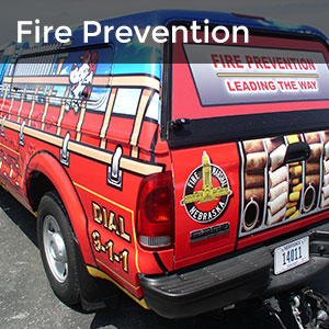 Fire Prevention - State Fire Marshal truck